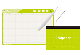 Gridboad+Gridpaper+Gridpen+ボールペン芯セット
